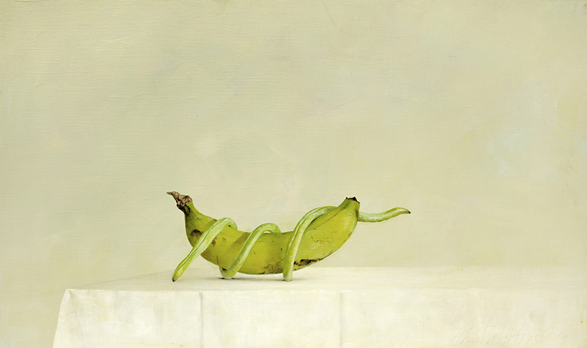 AZA030-Banana-Long-Bean-Ahmad-Zakii-Anwar-2015-acrylic-on-linen-41-x-69-cm