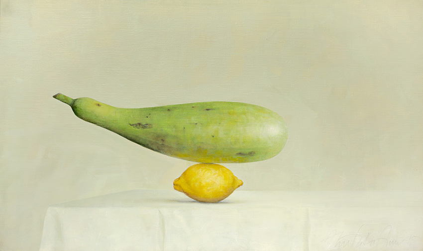 AZA033-Bottle-Gourd-Lemon-Ahmad-Zakii-Anwar-2015-acrylic-on-linen-41-x-69-cm