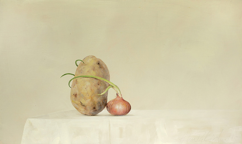 AZA038-Potato-Onion-Ahmad-Zakii-Anwar-2015-acrylic-on-linen-41-x-69-cm