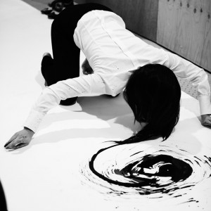 1. I am a Brush by Xie Rong, live performance, 3.30 hours, 2011 (image_Jamie Baker)