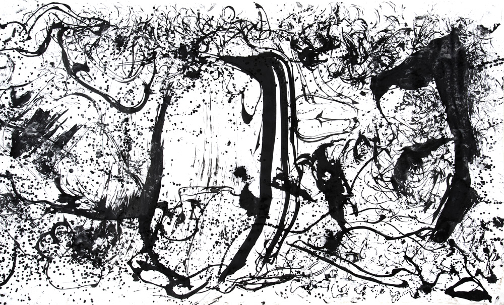 Hairpainting-section-2-by-Xie-Rong-ink-on-paper-size-variable-2011
