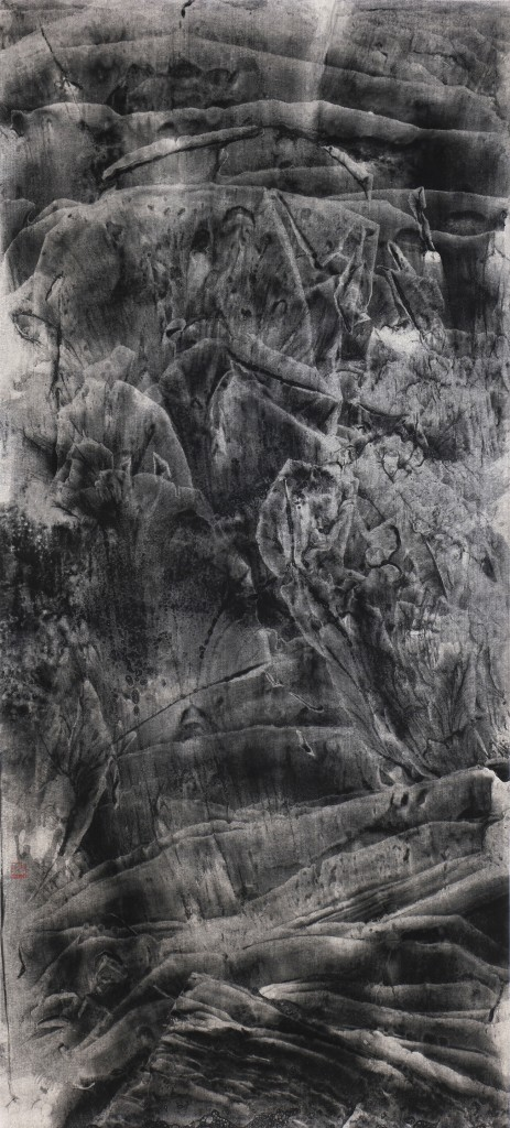 OCH-0052,6.30am 清晨六點半,2016,150x68cm,Ink on Rice Paper