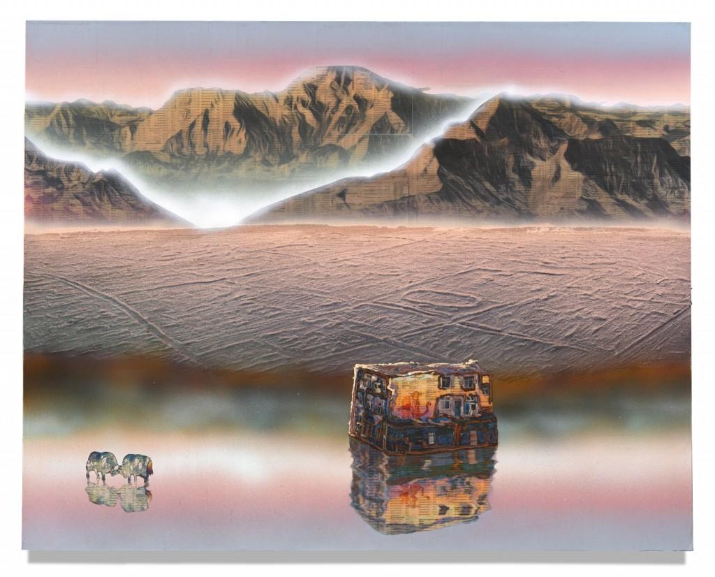 GC018_Plateau (study)_Gordon Cheung_80 x 100 cm_Mixed media on canvas_2018