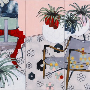 SB002_Spider Plants and Harlequin_Sara Berman_Oil on linen_130 x 170 cm_2017_low